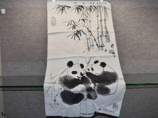 Vintage lot of 3 Decor Items   Panda Dresser Scarf  Dragon Candle Holder   Elephant Planter    Resin   Ceramic