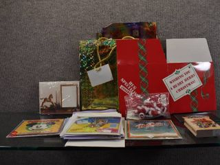 Christmas lot of Gift Bags  Cards  Stamps   More   See pics for additional items