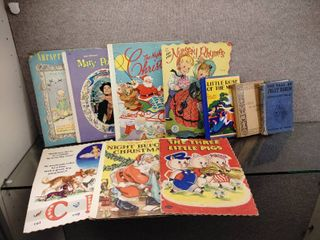 Vintage lot of 10 Children s Books and Nursery Rhymes   Jolly Robin  Three little Pigs  Mary Poppins    More
