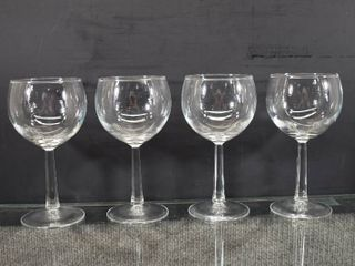 Set of 4 Crystal Wine Drinking Glasses   6  Tall