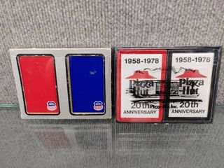 lot of 2 Double Decks of Playing Cards   Union Pacific and Pizza Hut 20th Anniversary 1978