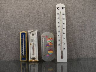 Vintage lot of 4 Thermometers   Sunbeam  Premier  Taylor