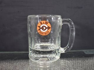 Vintage A W Root Beer Mug   Target with Arrow Emblem   4 1 2  Tall