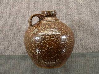 Vintage Pottery Jug Brown Speckled   5 1 2