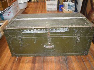 Vintage Old Army Chest   32  X 16