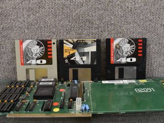 Vintage Amiga A2091 SCSI Controller Card Host Adapter w  Video Toaster Installation Disk