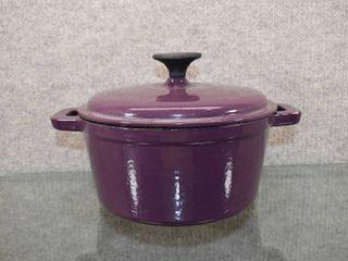 Bella Enamel Cast Iron Covered Dutch Oven Pot   2 75 QT