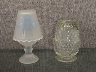 lot of 2 Fairy lamp Candle Holders   5 25  to 6 5  Tall