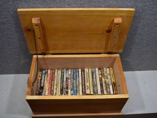 lot of 32 Pocket Western Novels in a Handmade Wooden Box   Box   20 5  x 13  x 12