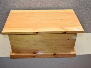 light Wood Handmade Wooden Box   20 5  x 13  x 12