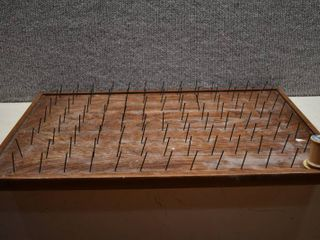 Board with Nails   For Decor or Tool Hanging   22  x 16