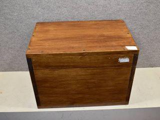 Dark Brown Handmade Wooden Box   20 5  x 13  x 12
