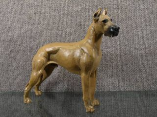 Vintage Jan Allen Great Dane Statue   Signed on bottom lAJ   9 1 2  Tall and long