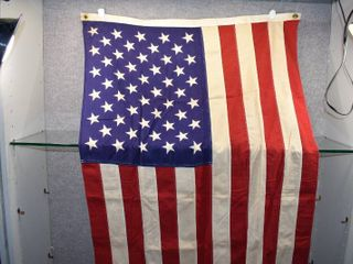 American Flag   Very Heavy Cotton Double Stitched   34  x 57