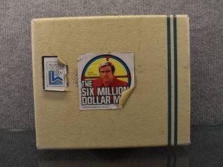 Vintage Six Million Dollar Man Box Full of G I  Joe Accessories   Boots  Guns  Helmet   More