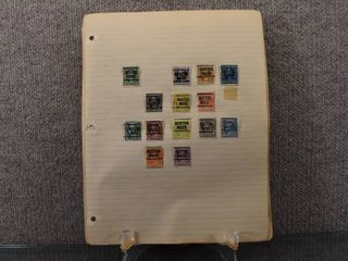 Vintage lot of 49 Pages of Used Stamps   One Cent to One Dollar   US Postal   Post Marks include Wichita  Boston  Kenosha  Milwaukee   More