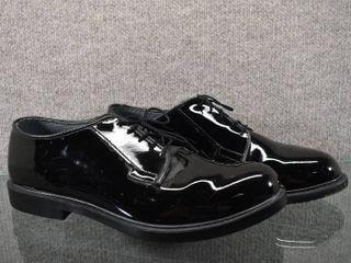 NIB Mens High Gloss Oxford Shoes   Bates lites   Oil   Slip Resistant   12 E