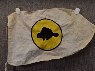 Vintage Official Boy Scouts of America Beaver Flag   10 1 2  x 18