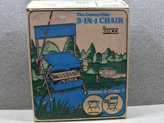 Vintage NIB The Convertible 3 IN 1 Chair   By Emco  Des Moines  Iowa     EFC3 1