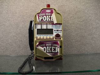 Vintage Monte Carlo Slot Machine Phone   Made By Radical   16  Tall