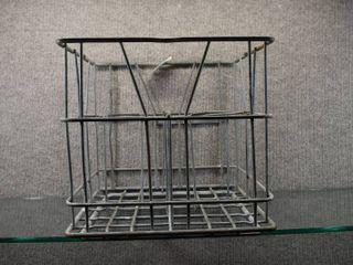 Vintage Steel Gallon Milk Crate   12 1 2  Tall