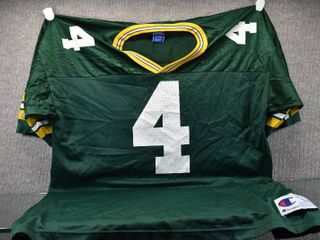 Vintage Favre  4 Green Bay Packers Jersey 48l   Champion Authentic Athletic Apparel   Size 52