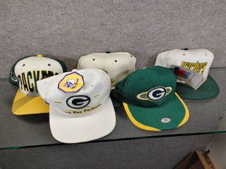 lot of 5 Green Bay Packers Baseball Caps   logo  Sports Specialities  Headlights