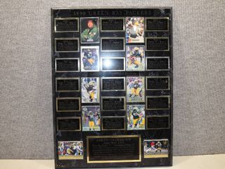 Super Bowl XXXI Green Bay Packers Wall Plaque   Very Nice    Collector Cards   24  x 18