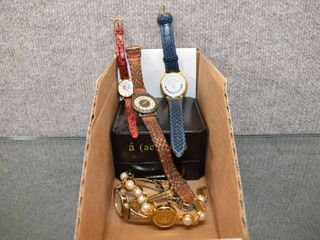 lot of 7 Assorted Wrist Watches   Anne Klein  Xanadu  Acc cents  Fossil Marie lourdes Timex