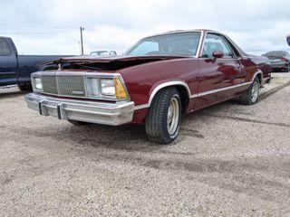 1978 Chevy El Camino VIN Unknown