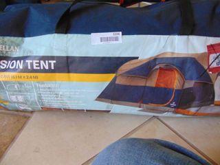 Mission Tent  Sleeps 8  poles bent