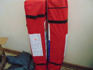 2 red 10 x 10 canopy tents  untested