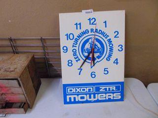 Dixon ZTR Clock  needs electrical plug