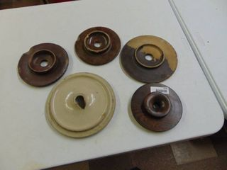 Crock lids  some with damage