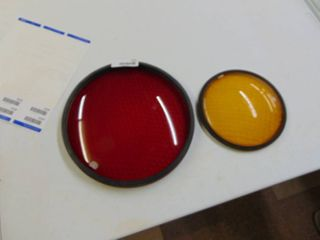 Red and Yellow stoplight lenses
