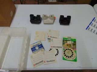 3 Viewmasters   with View Cards