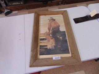 Coors Print   Framed Barnwood   Rough