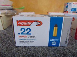 500 Aguila   Super Colibri   20 Grains   590 FPS   22 long Rifle