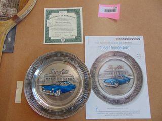 Bradford Exchange  The 1956 Thunderbird  Pewter plate 1993
