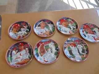 Mark McGwire Home Run Hero set of 7 Bradford Exchange plates