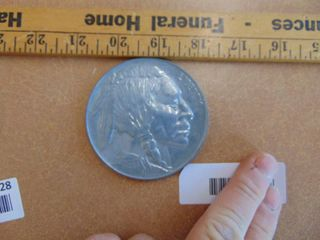 Indian Head Buffalo Nickel large coin   paperweight