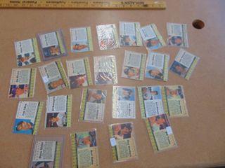lot of 25 1961 Post Baseball Cards