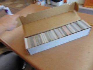 Box of Baseball and basketball cards