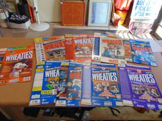 Flat of Wheaties boxes Payton  Shula  Griffey