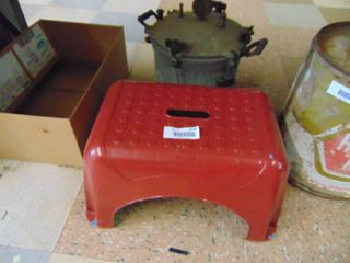 Step Stool and Pressure Cooler