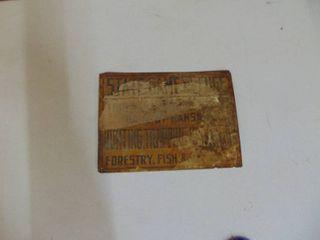 Vintage KS State Game Sign