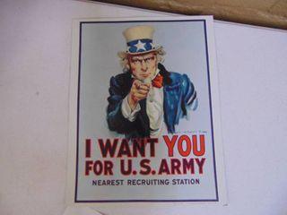 Uncle Sam Memorabelia Sign