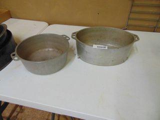 Pair of Aluminum Roasters  no lids