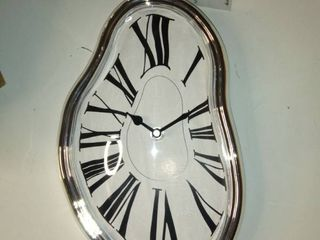 Modern Home Salvador Dali Inspired Melting Table  Mantle Clock