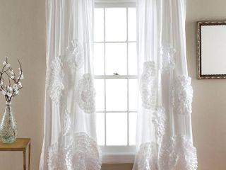 Serena Window Curtains Pair White